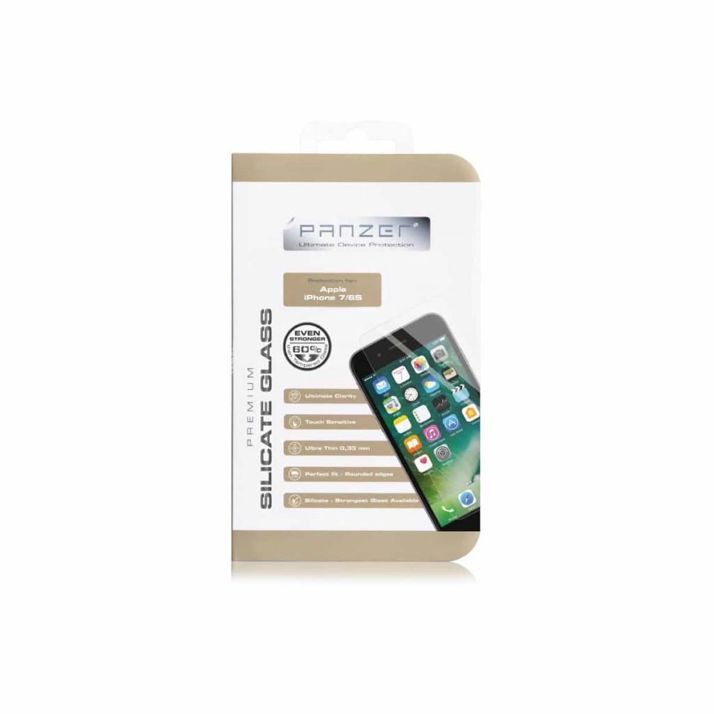 Panzer Silikatglass skjermbeskytter for iPhone 8/7/6s