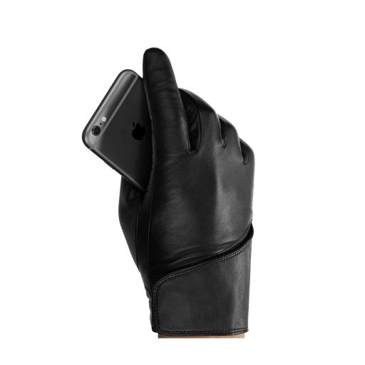 Mujjo Leather hansker for Touchskjerm – Størrelse 8