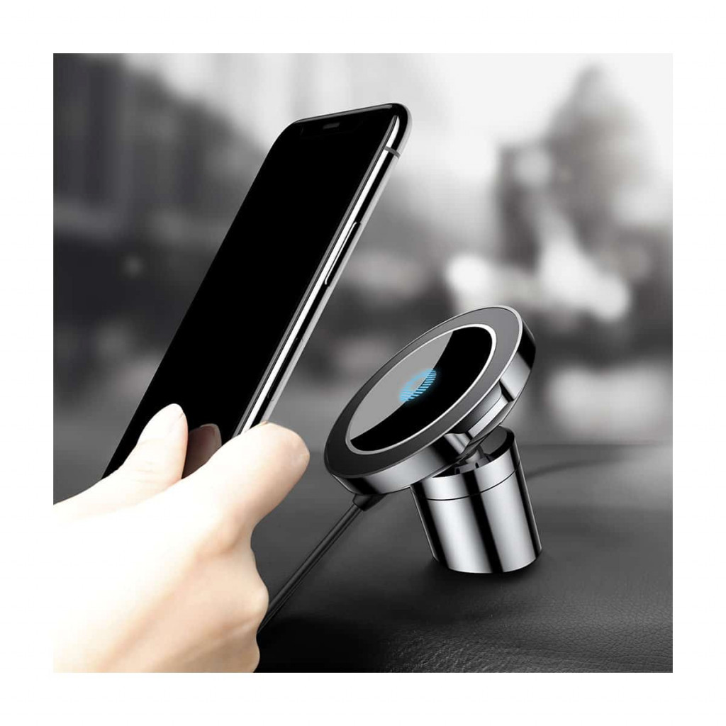 Baseus Big Ears trådløs Qi lader til bil – Svart | Pippin