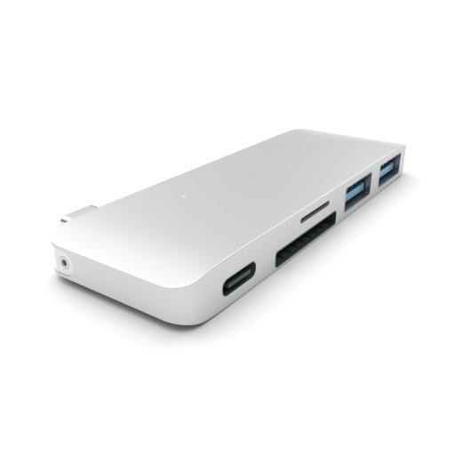 Satechi Type-C Pass Through USB Hub – Sølv