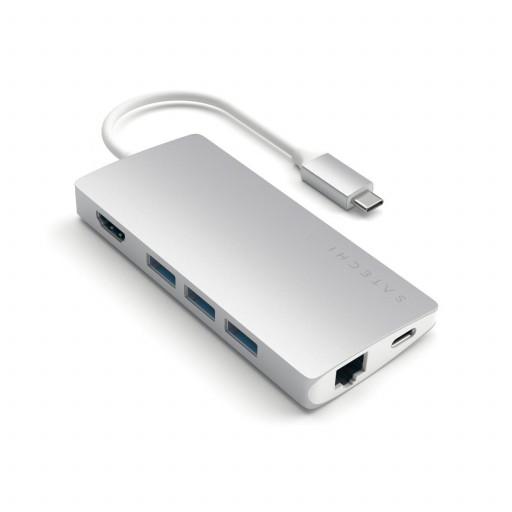 Satechi Type-C MultiPort Adapter 4K Ethernet V2 - Silver