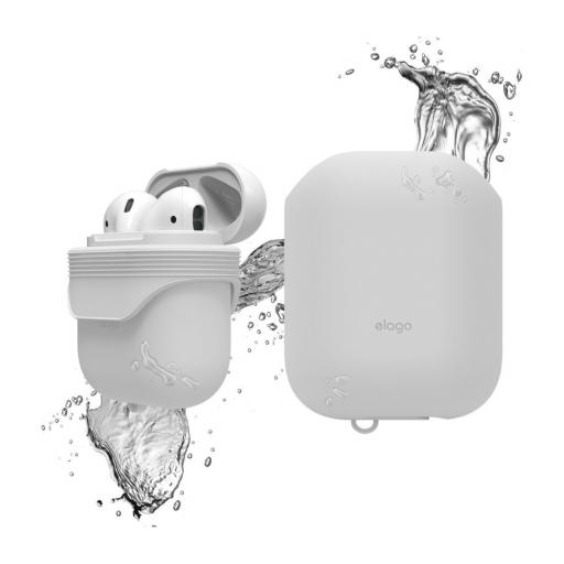 Elago AirPods vanntett silikondeksel - White