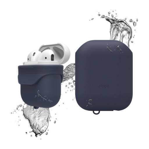 Elago AirPods vanntett silikondeksel - Jean Indigo