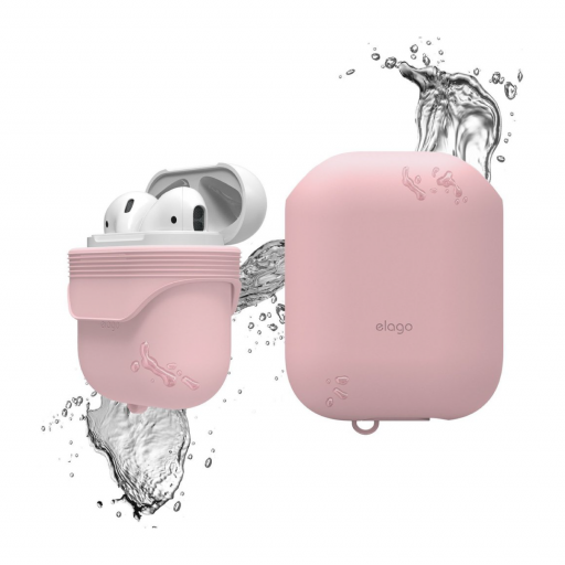 Elago AirPods vanntett silikondeksel - Lovely Pink