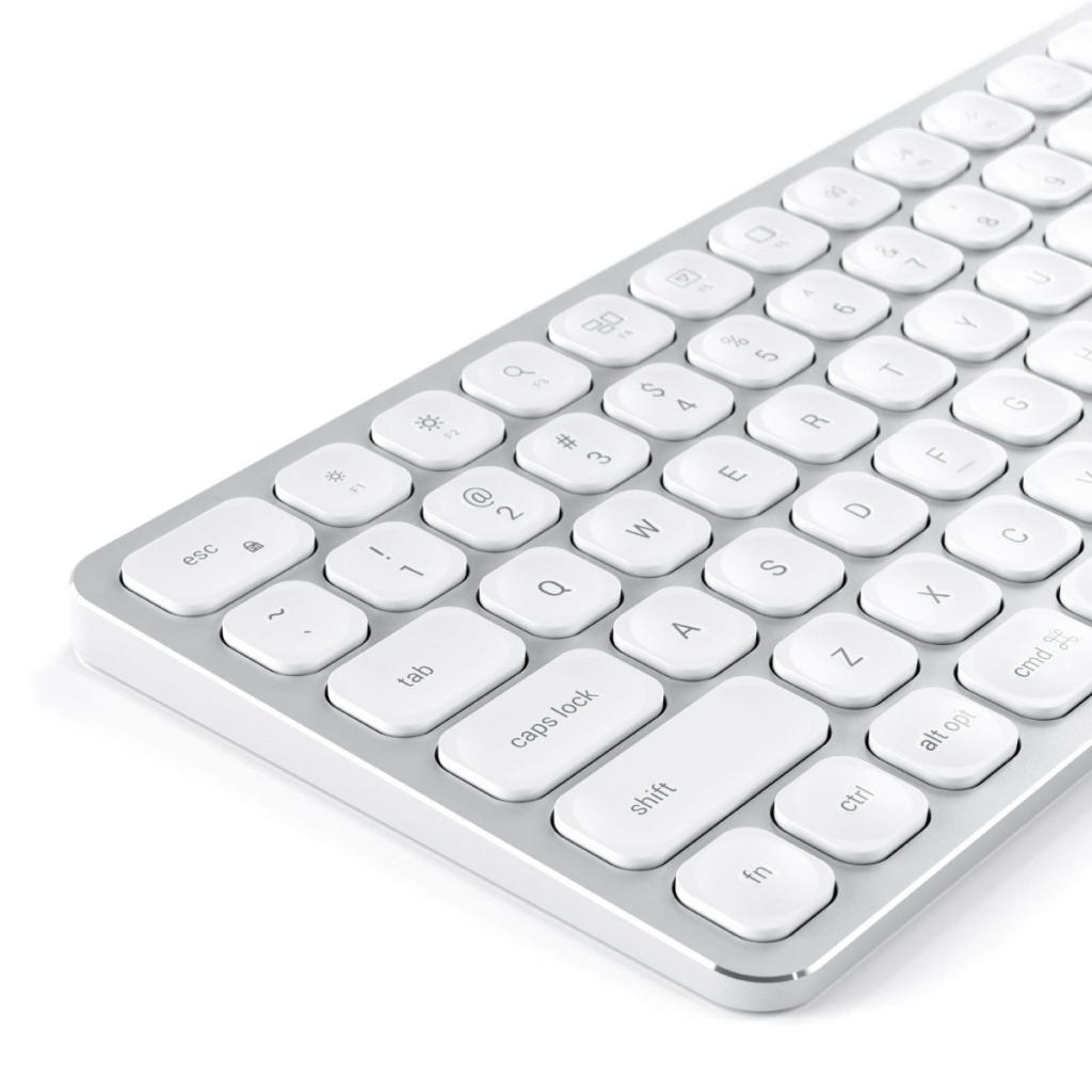 Satechi Aluminum Wired Keyboard Kablet Tastatur Nordisk Sølv