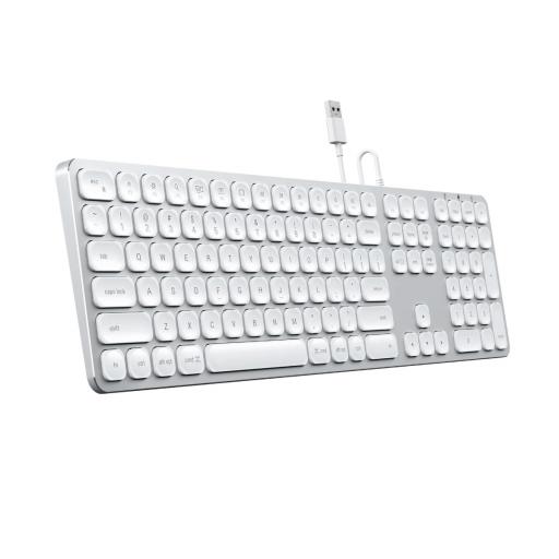 Satechi kablet tastatur Nordisk - Sølv