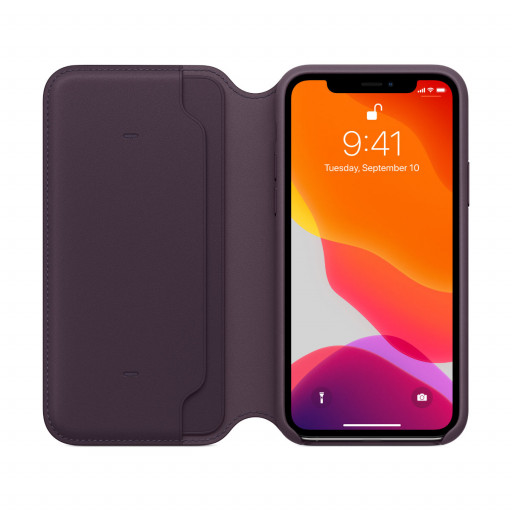 Apple Folio-skinndeksel til iPhone 11 Pro - Aubergine