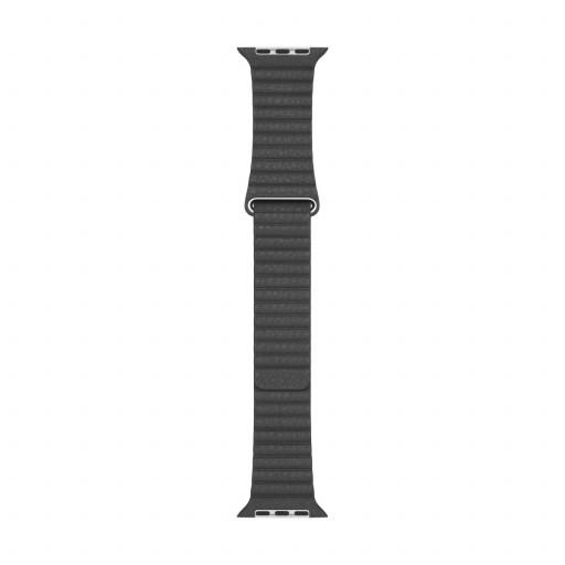 Apple Watch 44 mm Leather Loop (M) - Svart