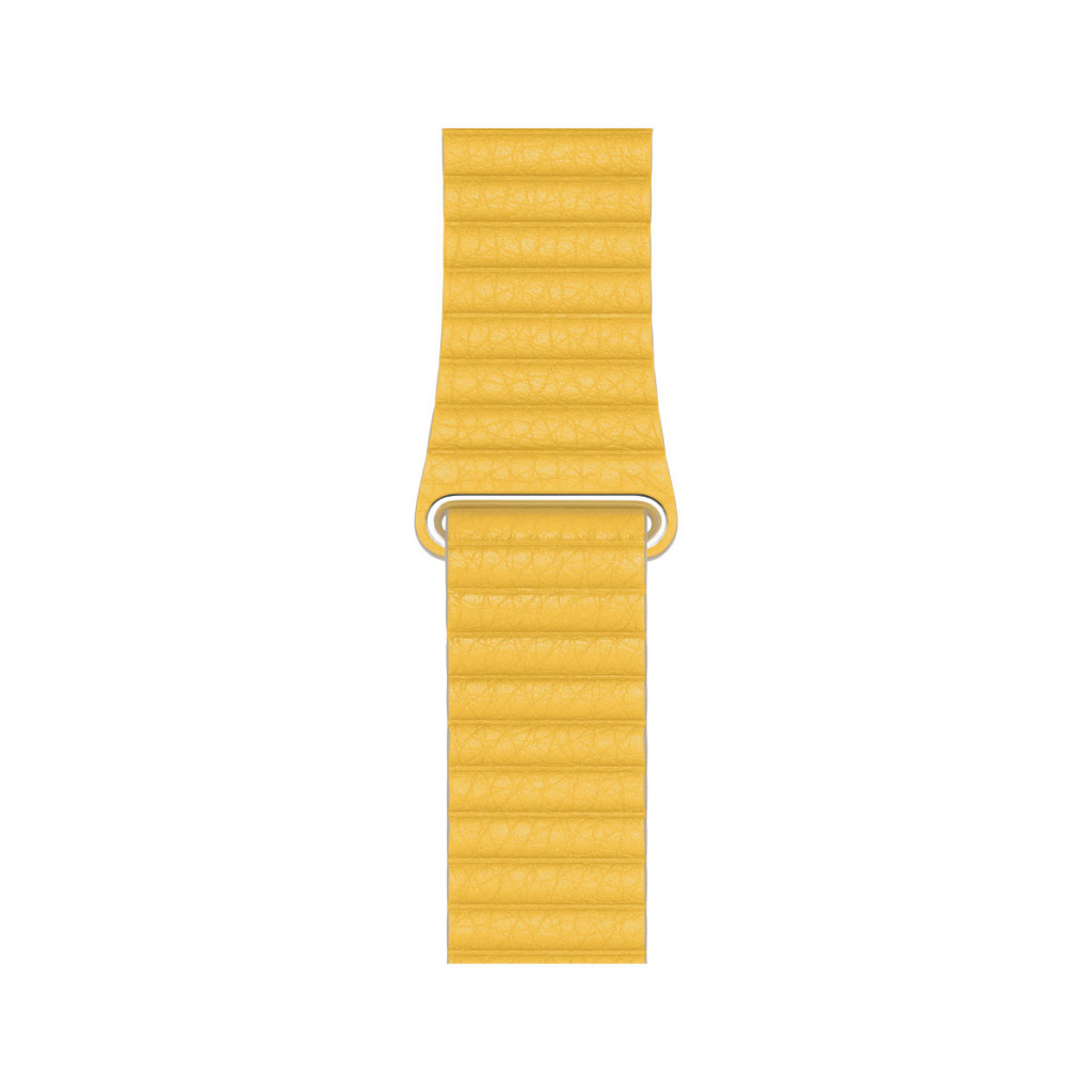 Large Leather Loop i Sitron til 44 mm Apple Watch