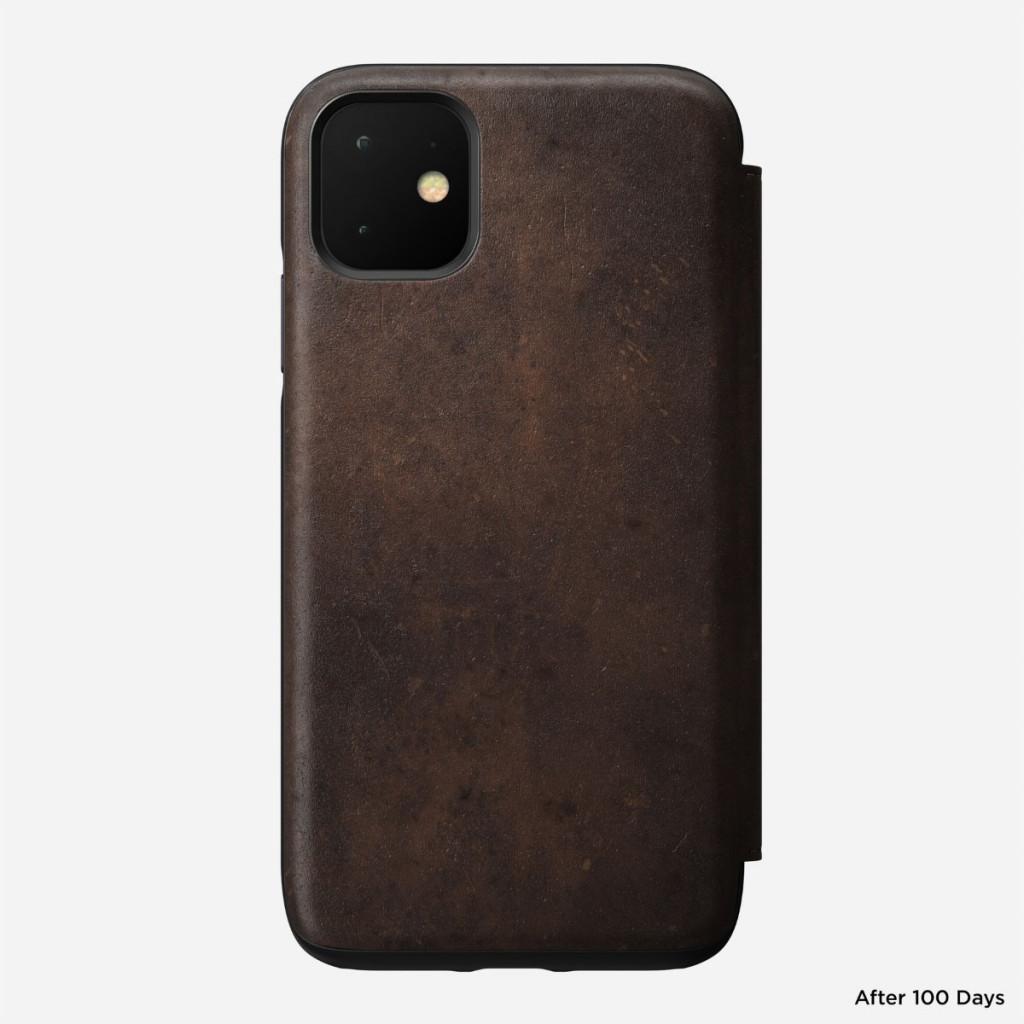 Nomad Rugged Folio for iPhone 11 - Brun