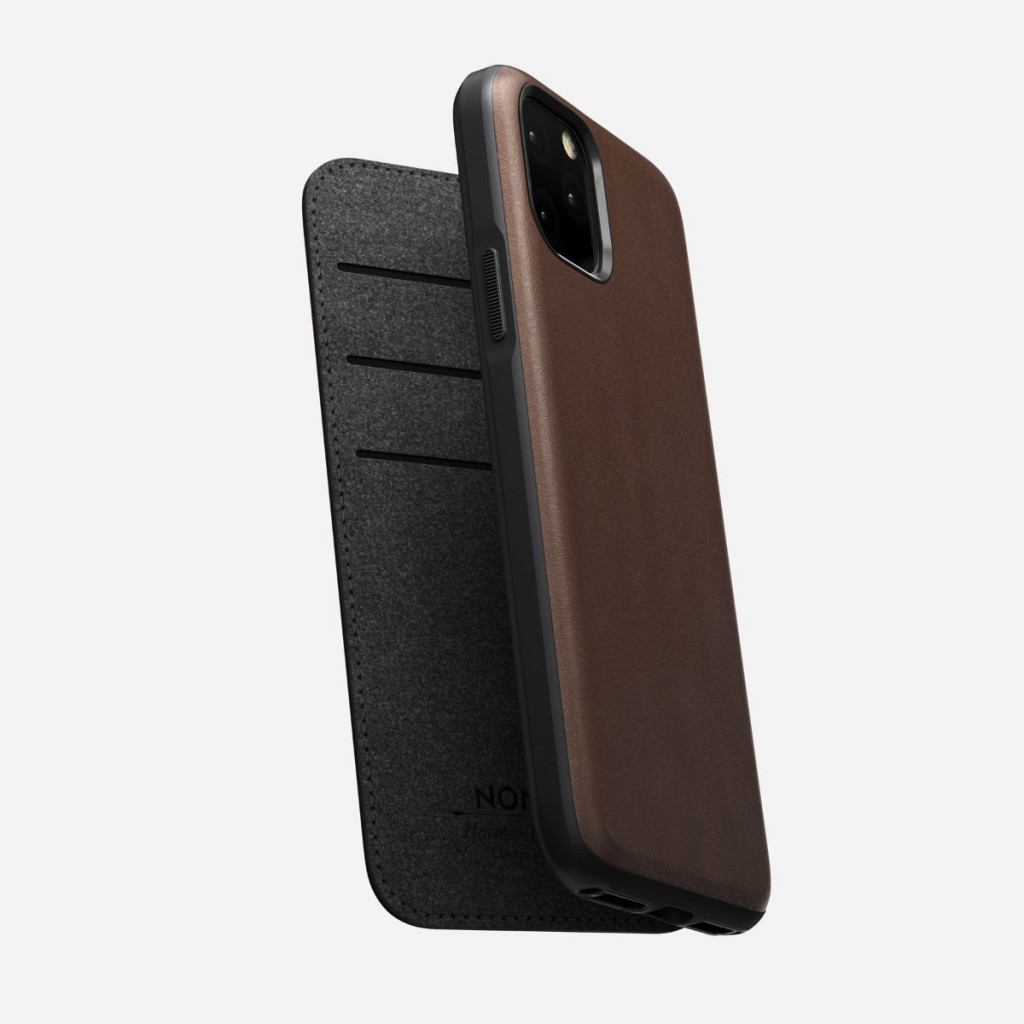 Nomad Rugged Folio for iPhone 11 Pro - Brun