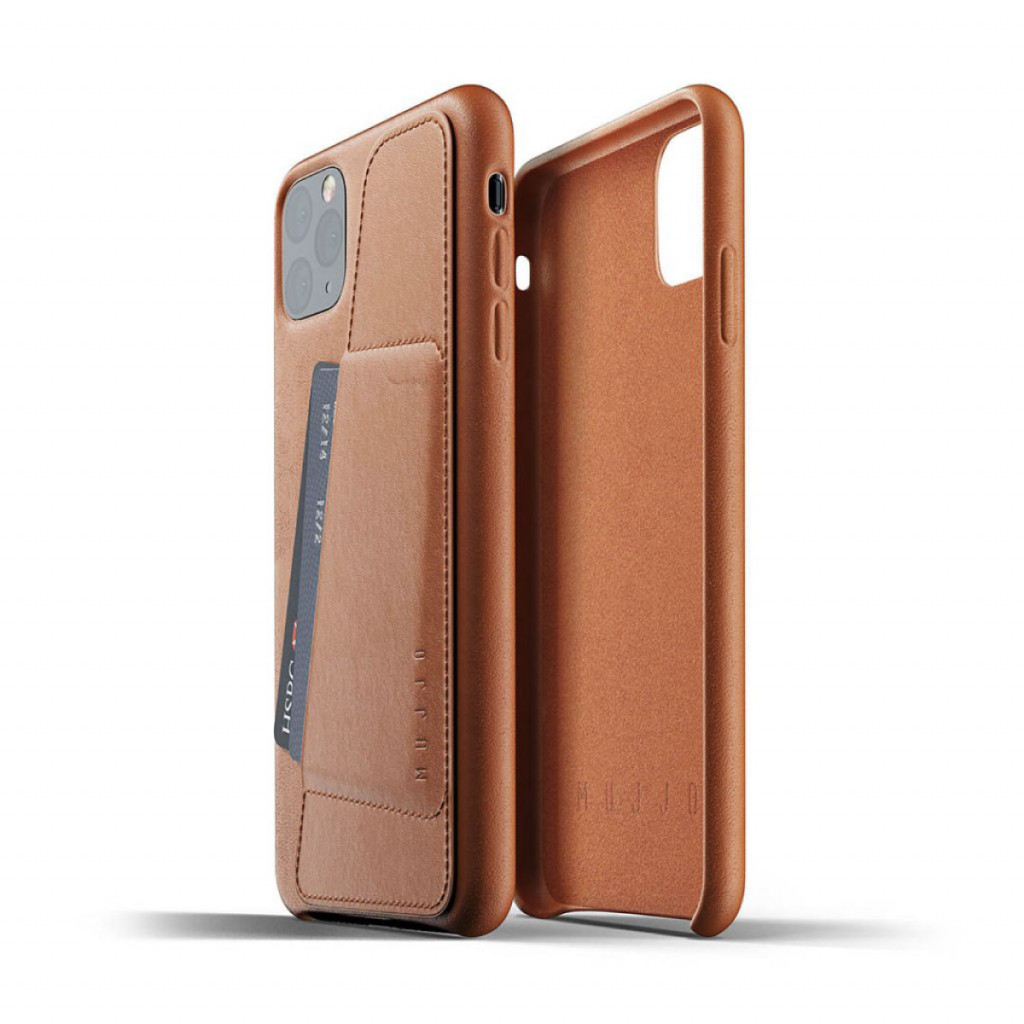 Mujjo Full Leather Wallet Case for iPhone 11 Pro Max – Lærbrun