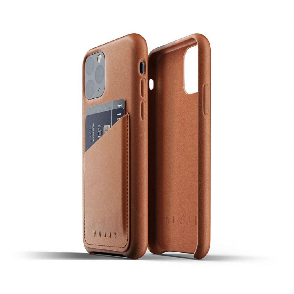 Mujjo Full Leather Wallet Case for iPhone 11 Pro – Lærbrun