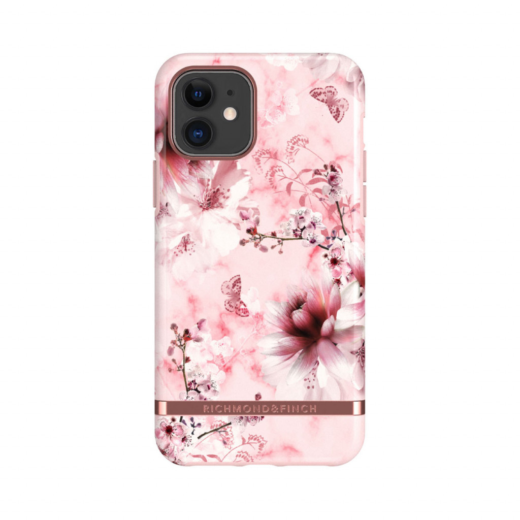 Richmond & Finch deksel til iPhone 11 - Pink Marble Floral