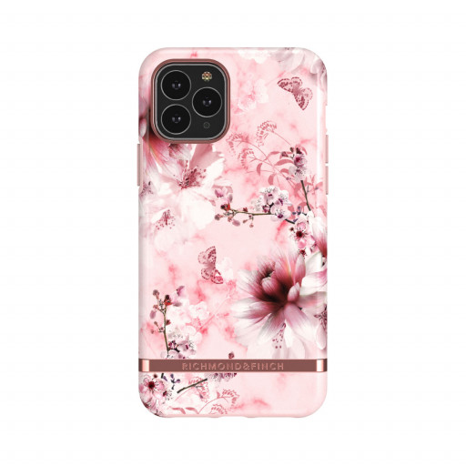 Richmond & Finch deksel til iPhone 11 Pro - Pink Marble Floral