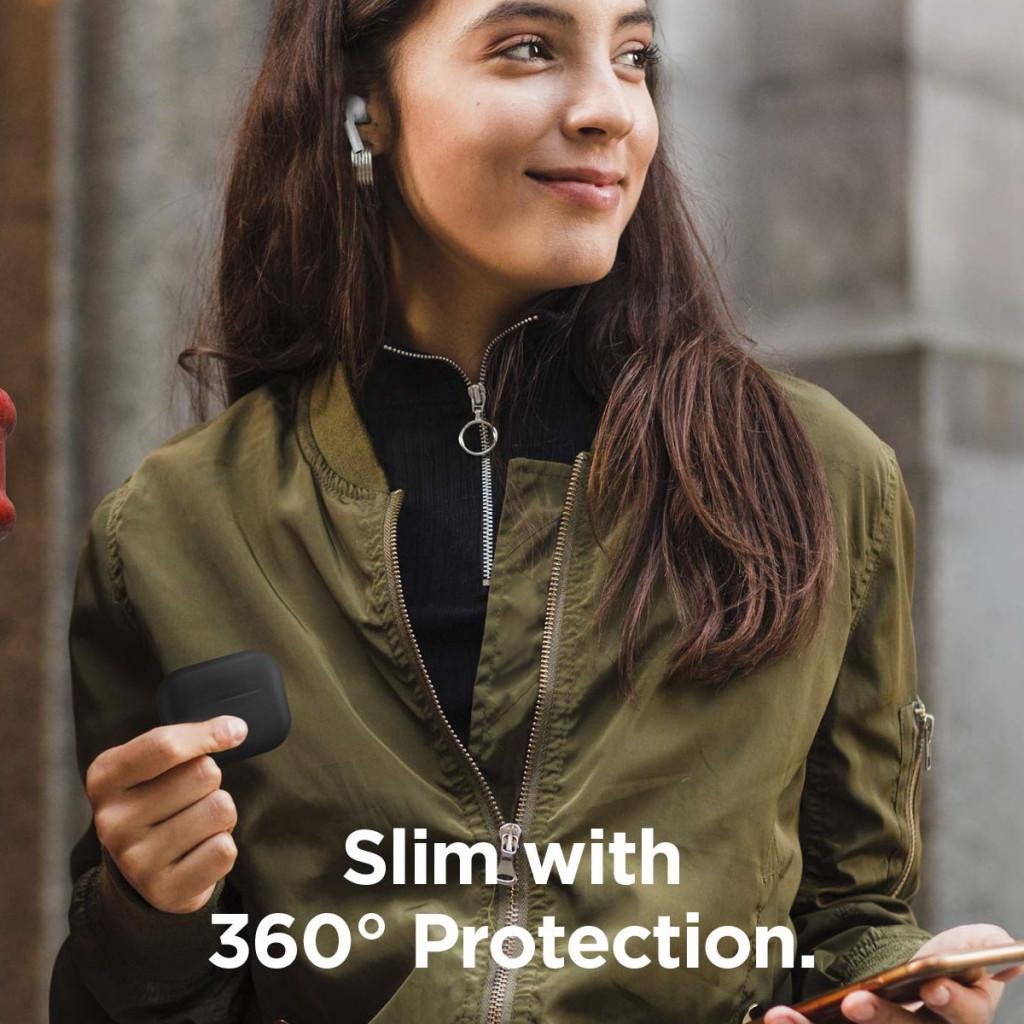 Elago Silikon Beskyttelsesetui til Airpods Pro - Svart