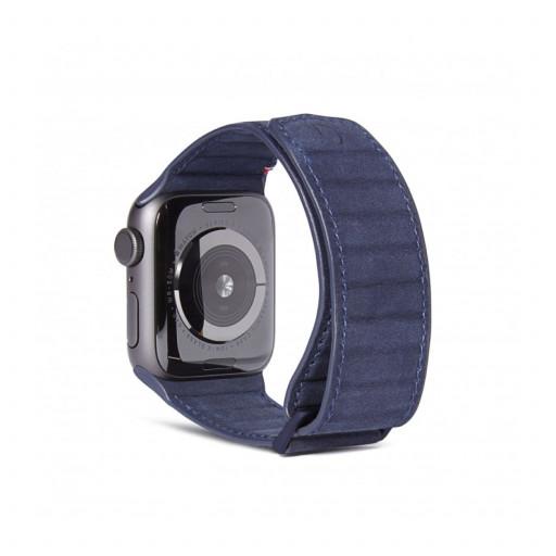 Decoded Traction Lærrem for Apple Watch 40/38 mm - Marine