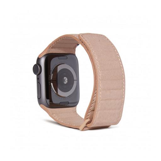 Decoded Traction Lærrem for Apple Watch 40/38 mm - Rose