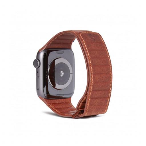 Decoded Traction Lærrem for Apple Watch 44/42 mm - Brun