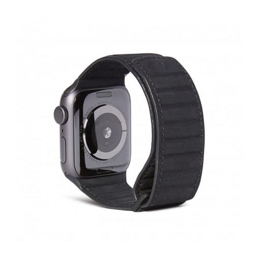 Decoded Traction Lærrem for Apple Watch 44/42 mm - Svart