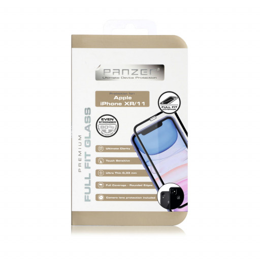 Panzer Silikatglass Full-Fit skjermbeskytter for iPhone XR/11