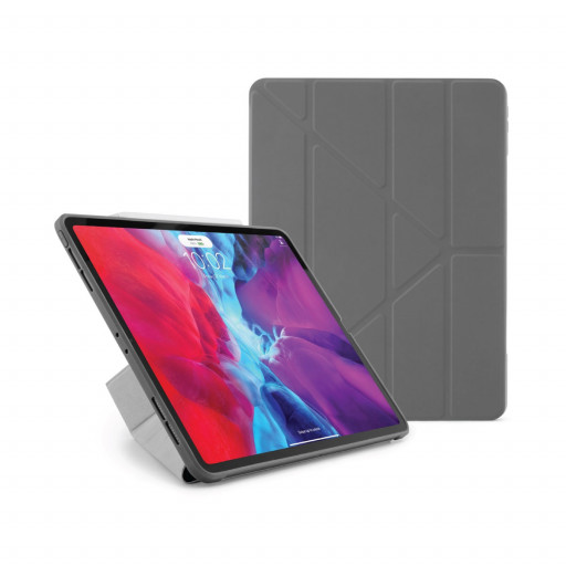 Pipetto Origami cover for iPad Pro 12.9-tommer (3. og 4. gen) - Mørkegrå