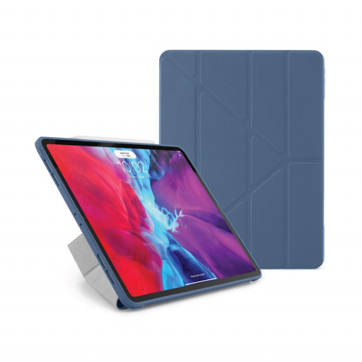 Pipetto Origami cover for iPad Pro 12.9-tommer (3. og 4. gen) - Marineblå