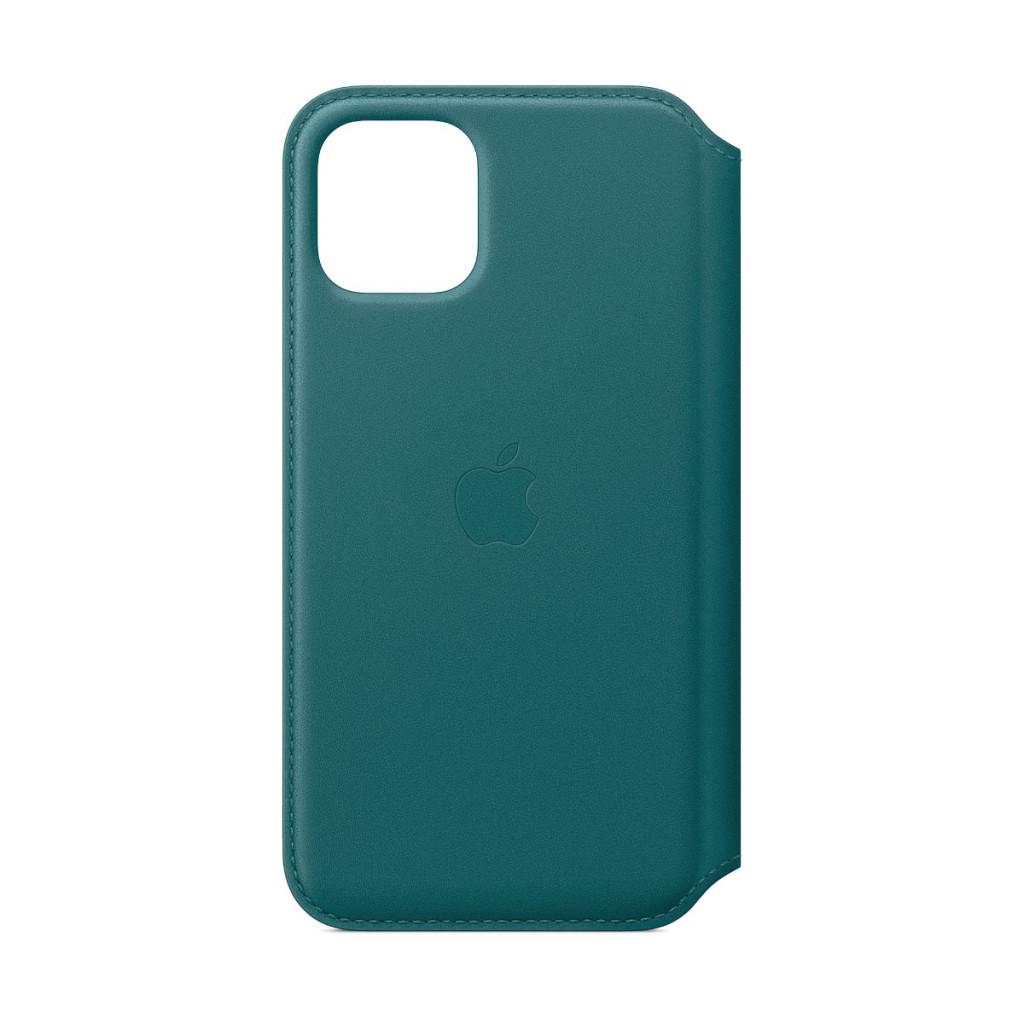 Apple Folio-skinndeksel til iPhone 11 Pro - Påfugl