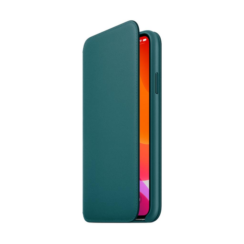 Apple Folio-skinndeksel til iPhone 11 Pro Max - Påfugl