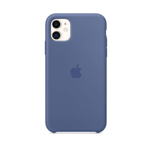 Apple Silikondeksel til iPhone 11 - Linblå