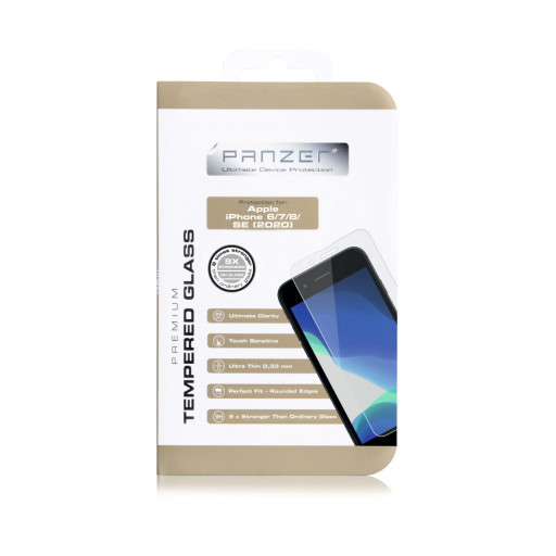 Panzer Temperert Glass skjermbeskytter for iPhone SE (2020)
