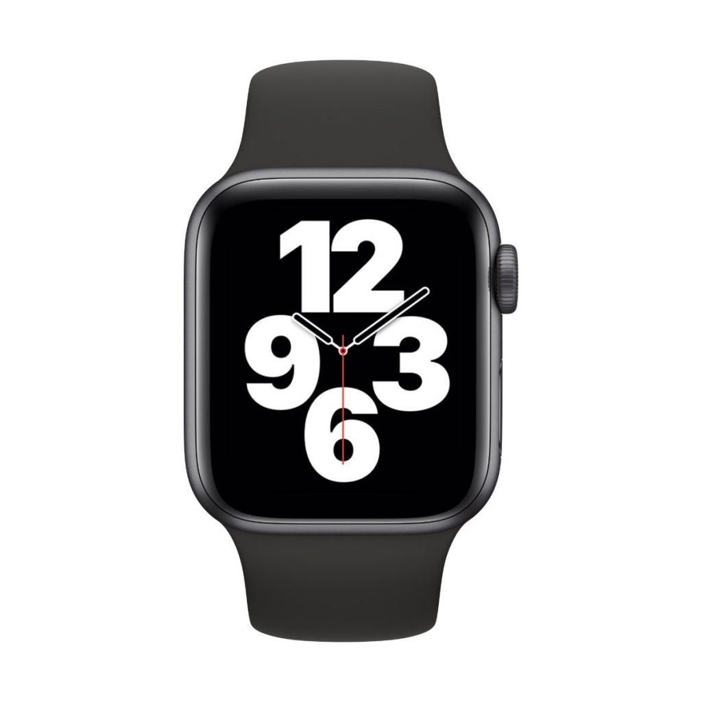 Apple Watch SE GPS 40 mm – Aluminium i Stellargrå med Svart Sport Band