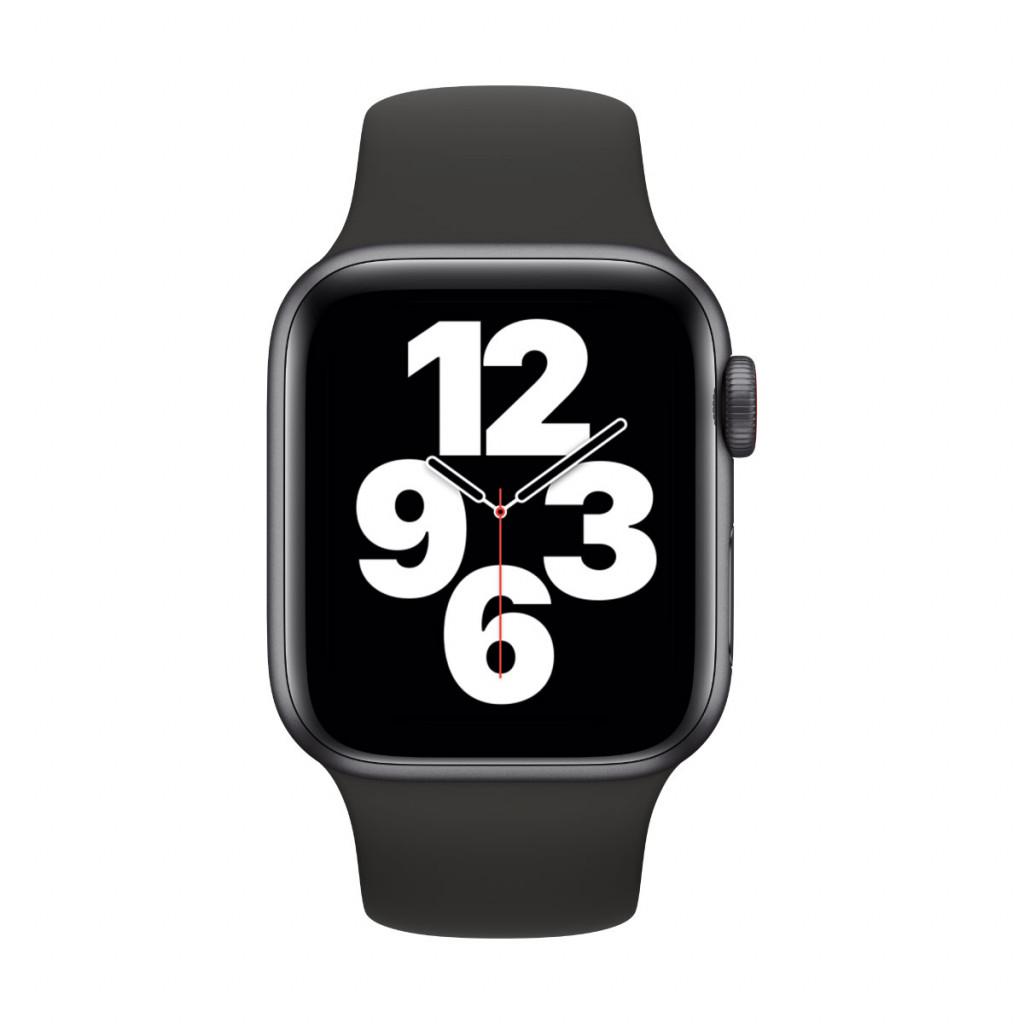Apple Watch SE Cellular 40 mm – Aluminium i Stellargrå med Svart Sport Band