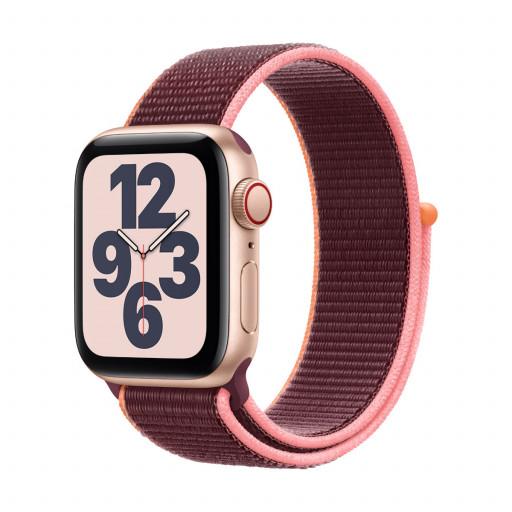 Apple Watch SE Cellular 40 mm – Aluminium i Gull med Plomme Sport Loop