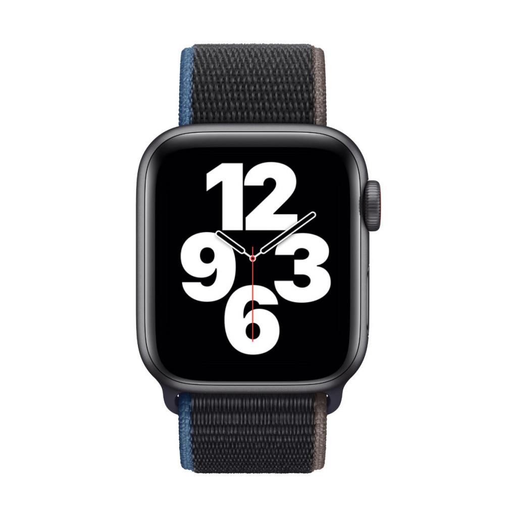 Apple Watch SE Cellular 40 mm – Aluminium i Stellargrå med Kullstift Sport Loop