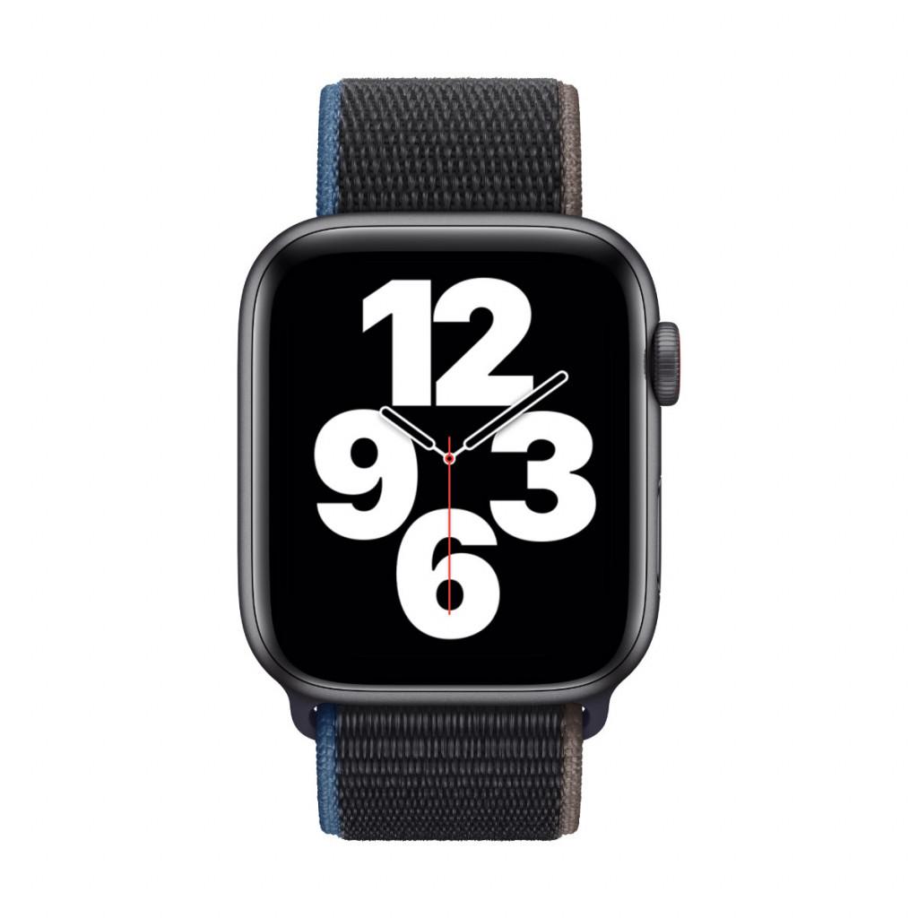 Apple Watch SE Cellular 44 mm – Aluminium i Stellargrå med Kullstift Sport Loop