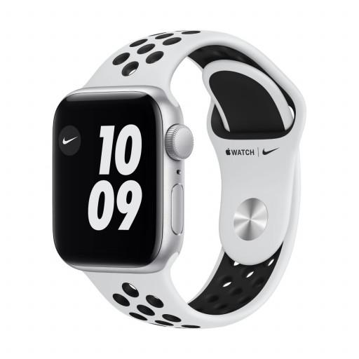 Apple Watch Nike SE GPS 40 mm – Aluminium i Sølv med Pure Platinum/Black Nike Sport Band