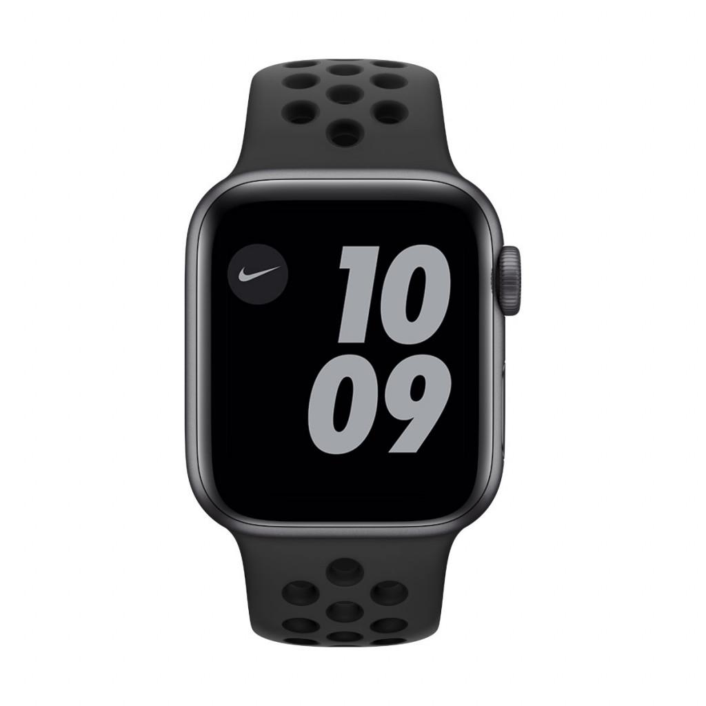 Apple Watch Nike SE GPS 40 mm – Aluminium i Stellargrå med Anthracite/Black Nike Sport Band