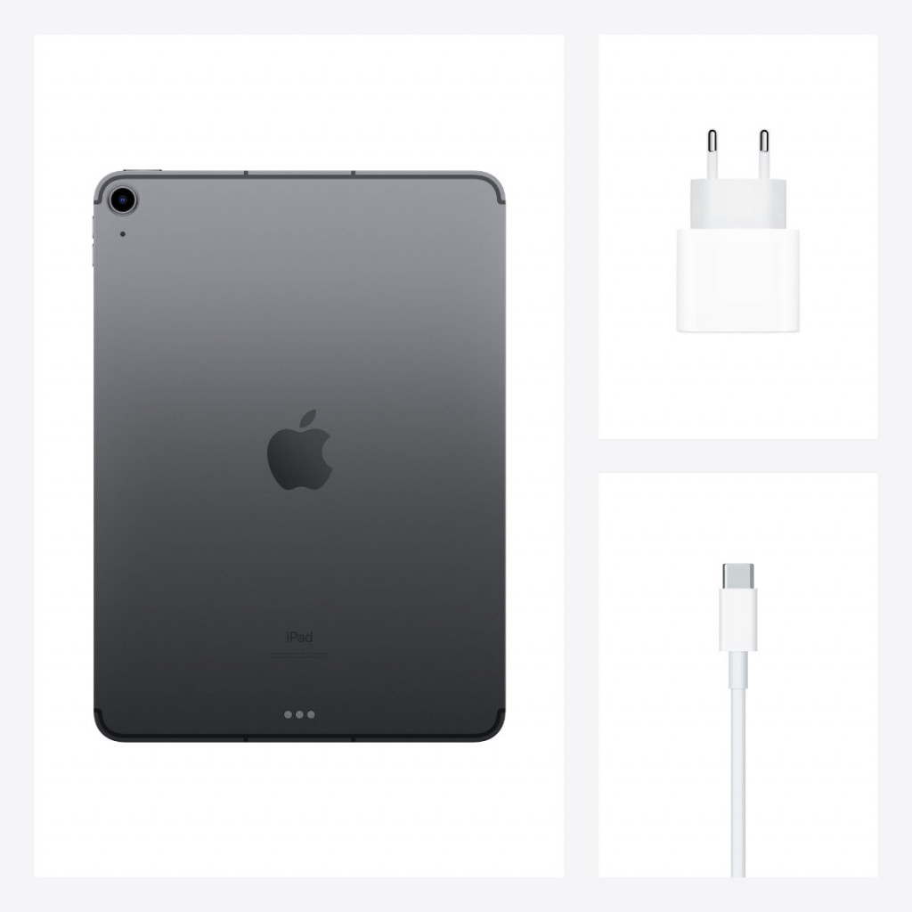 iPad Air 10.9-tommer (2020) Wi-Fi + Cellular 64GB Stellargrå