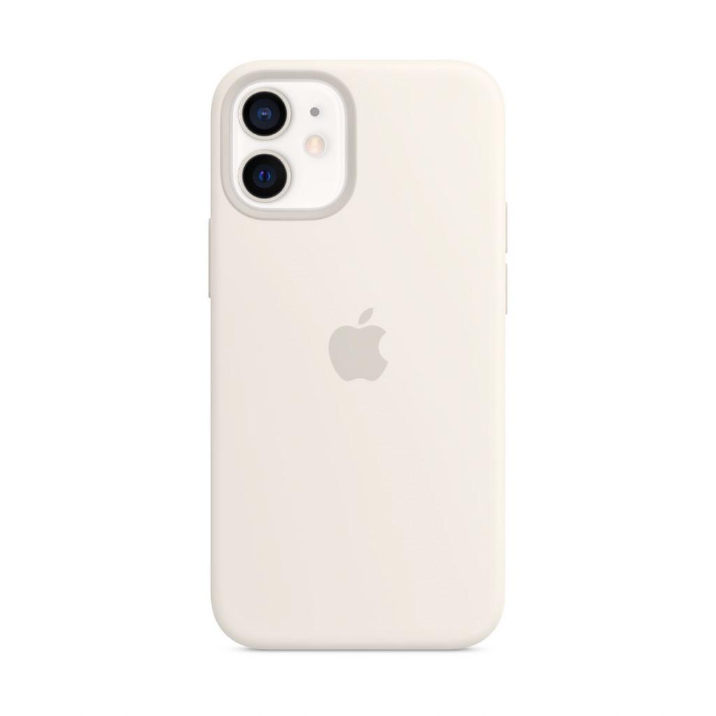 Apple Silikondeksel med MagSafe til iPhone 12 mini – Hvit