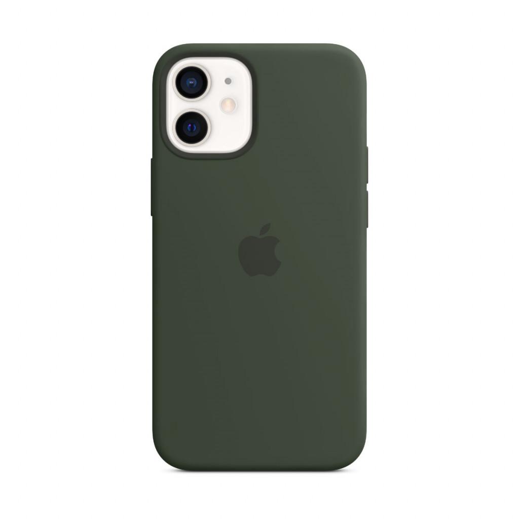 Apple Silikondeksel med MagSafe til iPhone 12 mini – Kyprosgrønn