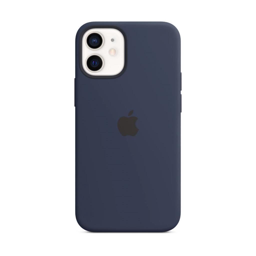 Apple Silikondeksel med MagSafe til iPhone 12 mini – Dyp Marineblå