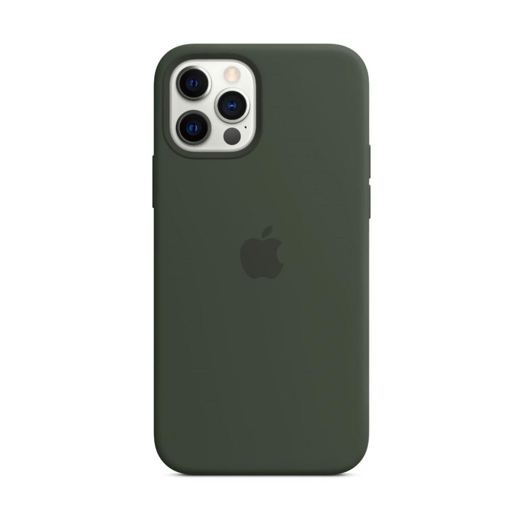 Apple Silikondeksel med MagSafe til iPhone 12 Pro / 12 – Kyprosgrønn