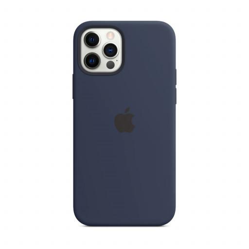 Apple Silikondeksel med MagSafe til iPhone 12 Pro / 12 – Dyp Marineblå