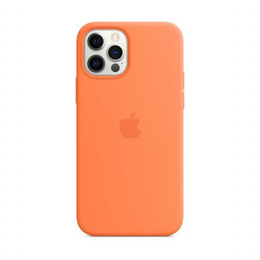 Apple Silikondeksel med MagSafe til iPhone 12 Pro / 12 – Kumkvat