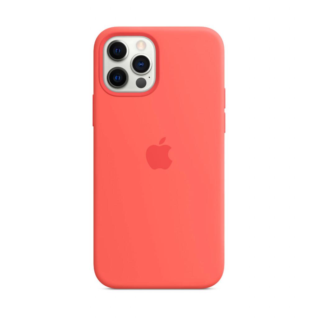 Apple Silikondeksel med MagSafe til iPhone 12 Pro / 12 – Rosa Sitrus