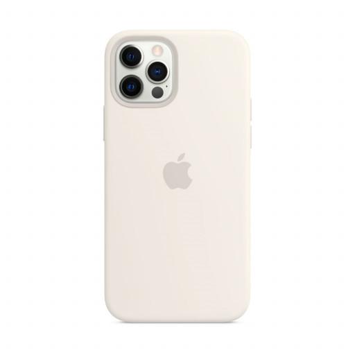 Apple Silikondeksel med MagSafe til iPhone 12 Pro / 12 – Hvit