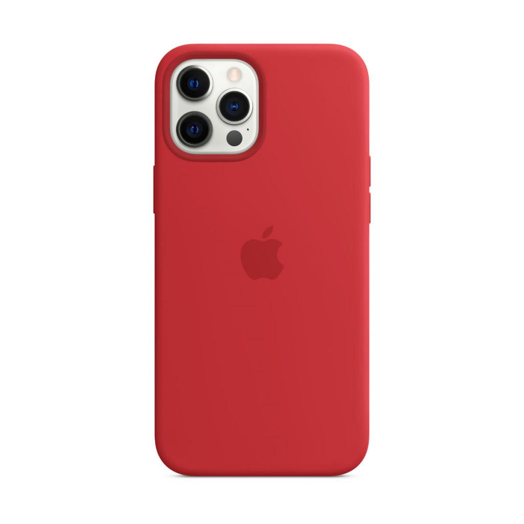 Apple Silikondeksel med MagSafe til iPhone 12 Pro Max – (PRODUCT)RED