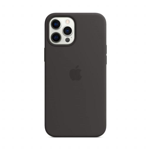 Apple Silikondeksel med MagSafe til iPhone 12 Pro Max – Svart