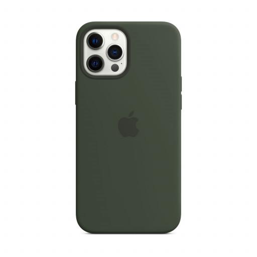 Apple Silikondeksel med MagSafe til iPhone 12 Pro Max – Kyprosgrønn